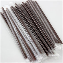 Hot 100 individually wrapped single pack coffee straws 18cm long handicraft disposable Party stirring straw AB213