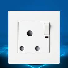 New Wall Power Socket, White  Panel, ON/OFF AC110~250V,15A Outlet UK Standard 86mm*90mm