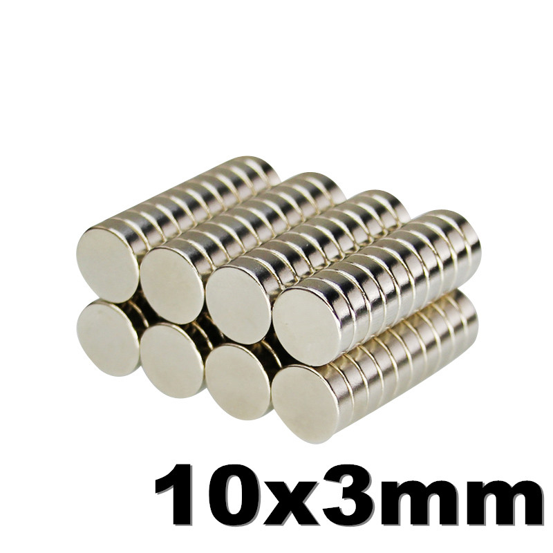 10pcs Fridge <font><b>Magnet</b></font> <font><b>10x3mm</b></font> N35 Small Round Super Strong Powerful Magnetic Neodymium <font><b>Magnets</b></font> For Craft Photos Whiteboards 10mm image