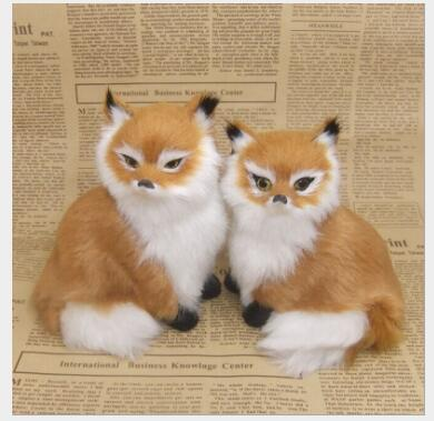 WYZHY simulation yellow fox birthday gift christmas gift interior decoration teaching home model decoration to send friends in Real Life Plush from Toys Hobbies