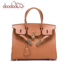 women luxury brand genuine leather lock handbags female messenger bags designer casual ladies