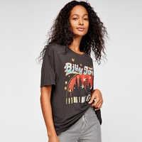 Jastie concerto Vintage graphic Tee Roccia chic Black T-Shirt Top 2019 di Estate Top A Manica Corta O-Collo Delle Donne Pullover Magliette e camicette Tee camicia
