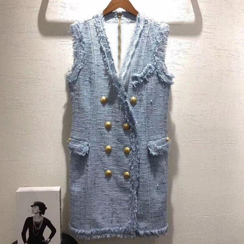 tweed dress for women summer v neck sleeveless dress women 2018 new fashion straight mini dress