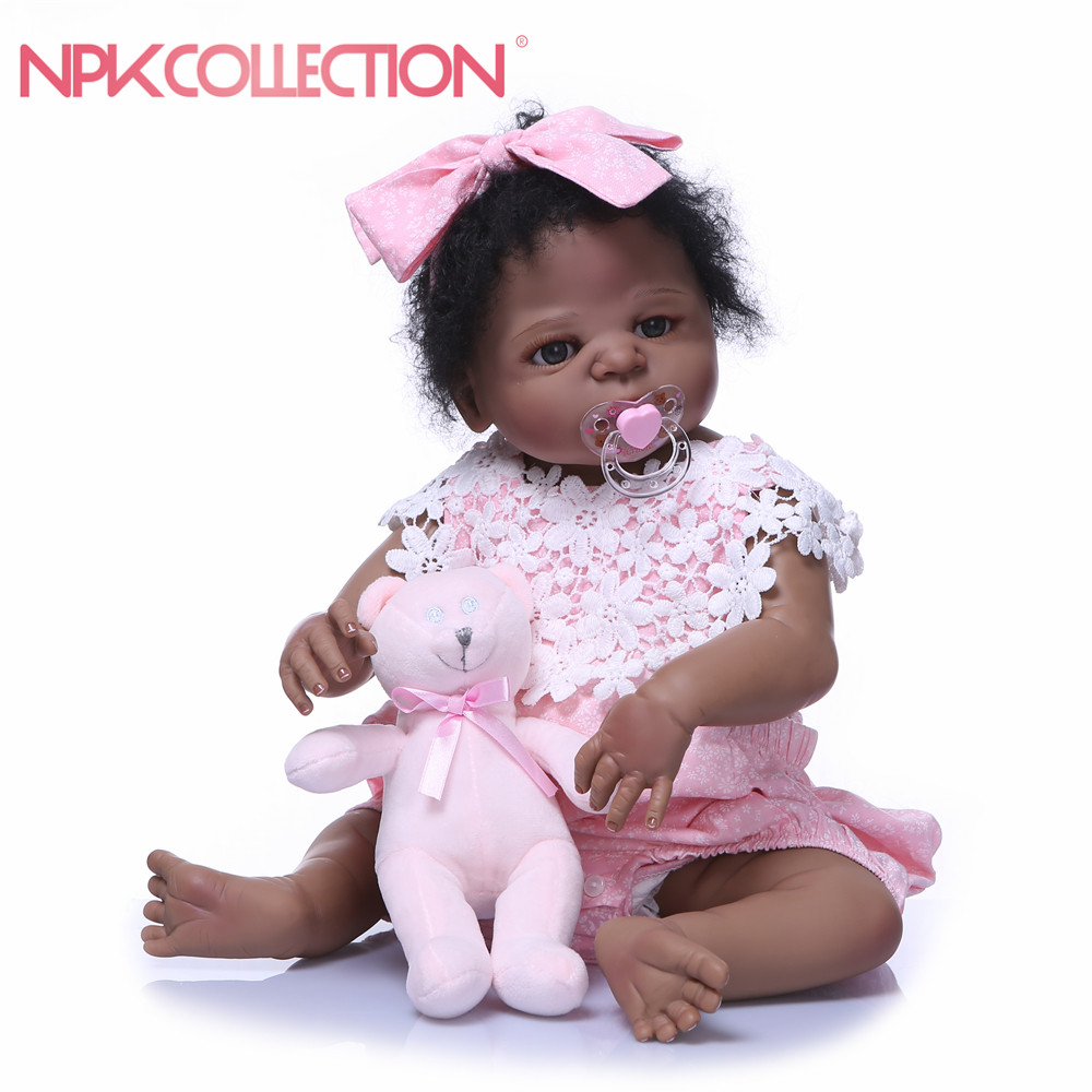 56CM Full Body Silicone Reborn Baby Doll kids Playmate Gift For Girl Babies Alive Soft Toys For Bouquets Doll Bebes Reborn56CM Full Body Silicone Reborn Baby Doll kids Playmate Gift For Girl Babies Alive Soft Toys For Bouquets Doll Bebes Reborn