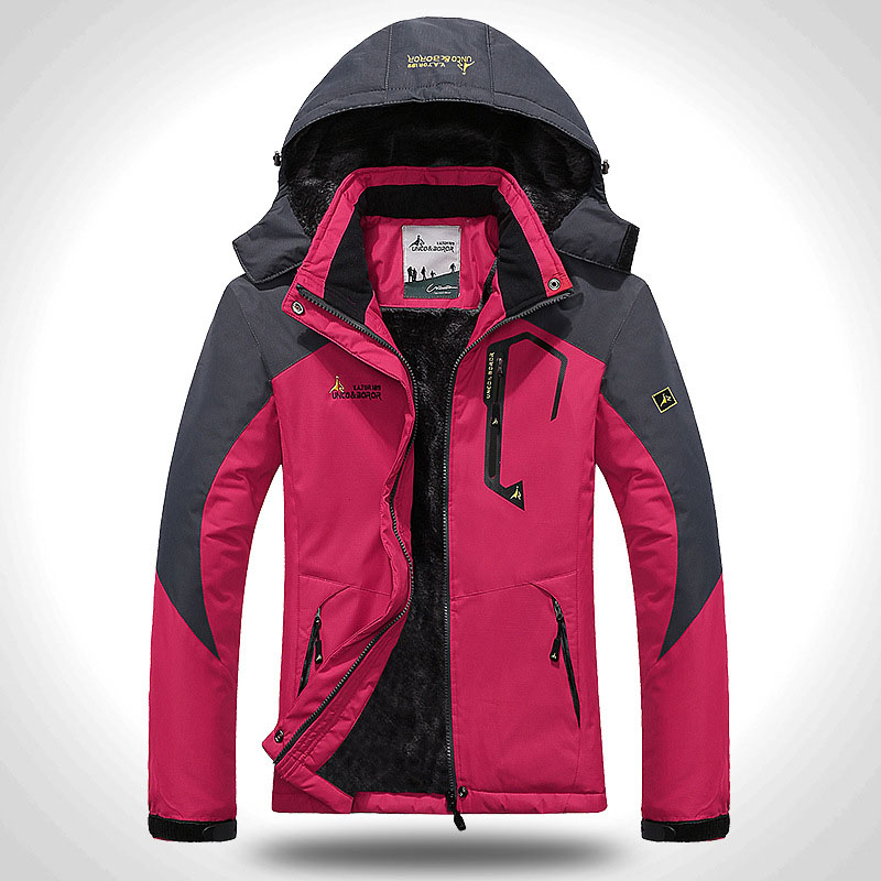 Women's Softshell Jacket Ski Suit Hiking Down Coats Waterproof Snow Snowboard Clothes Skiing Fishing Costume Female Sportswear (3)