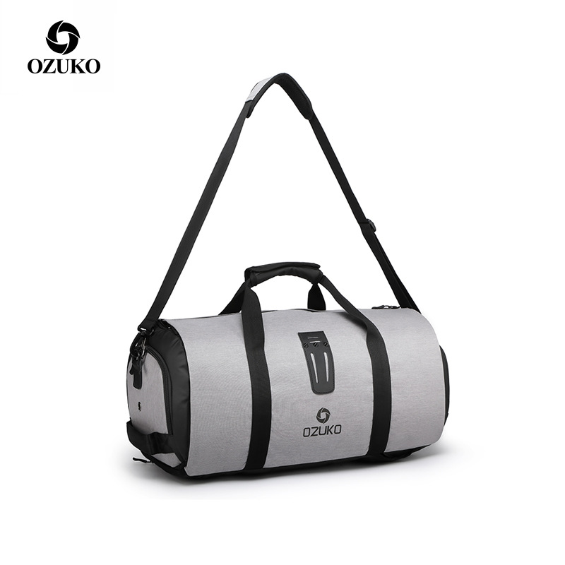 Ozuko Multifunction Large Capacity Men Travel Bag Waterproof Duffle Bag For Trip Suit Storage Bag Hand Luggage Bags