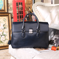 E Mio Leather Men Business Briefcase Handmade Venezin Cow Leather Handbag Shoulder Bag Italian Laptop Bag