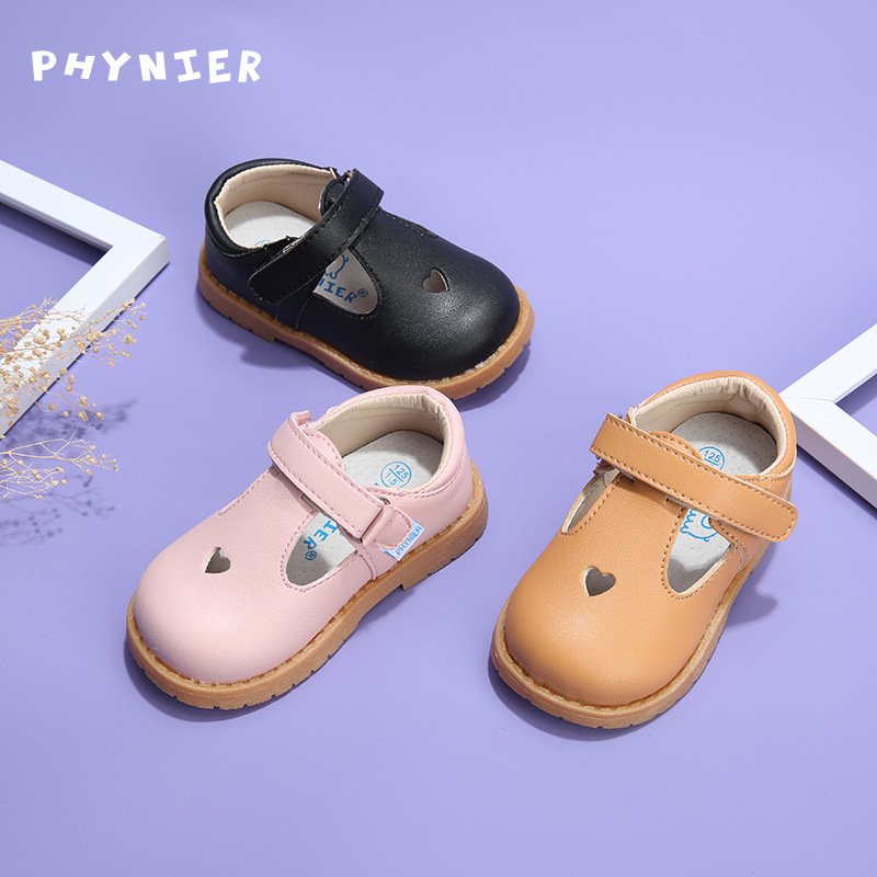 Spring Baby Leather Shoes Toddler Shoes Girls Pure Color Infant Princess Shoes Boys Hollow Out