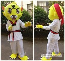 купить Tiger Mascot Costume Animal Cartoon Character Mascot Costumes for Sale Fancy Dress Halloween Party Suit Adult Size по цене 9785.04 рублей