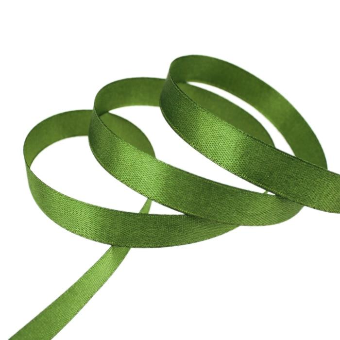 25 ярдов/рулон) атласная лента оптом, подарочная упаковка, рождественские украшения сделай сам, с лентой, с местом для рулон ткани(6/10/12/15/20/25/40 мм - Цвет: Армейский зелёный