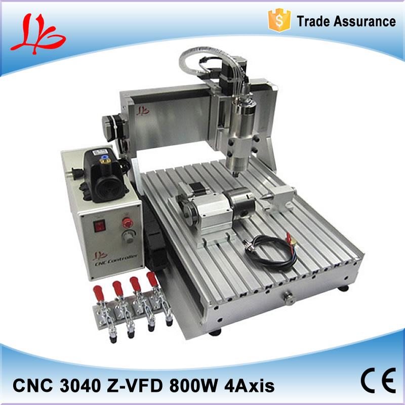 4 axis 3040Z-VFD mini metal cnc milling machine 800W water cooling spindle 4000mm/min tested well cnc machine. freeshipping usb port cnc milling machine cnc 3040 z vfd 4 axis limit switch 1 5kw vfd water cooling spindle cnc engraver