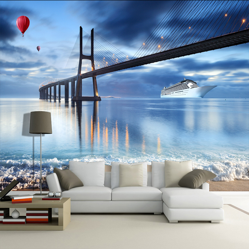 Custom 3D Background Wallpaper Modern New York City Night View Living Room TV Background Wall Decor Mural Wallpapers 3D Parede wallpaper for walls 3 d modern trdimensional geometry 4d tv background wall paper roll silver gray wallpapers for living room