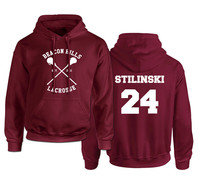 Beacon Hills Lacrosse Logo Wolf Hoodie Womens TeenWolf Stiles Stilinski Teen Hoody Ladies Fleece Sweatshirt Euro Size XS XXL