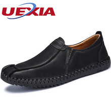 Handmade Men Leather Casual Shoes For Men Loafers Slip On Dress Black Flats Comfort Male Footwear High Quality Botines Hombre