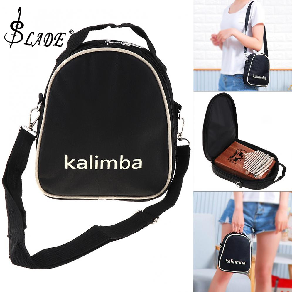 SLADE 17 / 15 / 10 Key Universal Kalimba Storage Bag Thumb Piano Soft Case Oxford Cloth Inside Cotton Shoulder Portable Bag