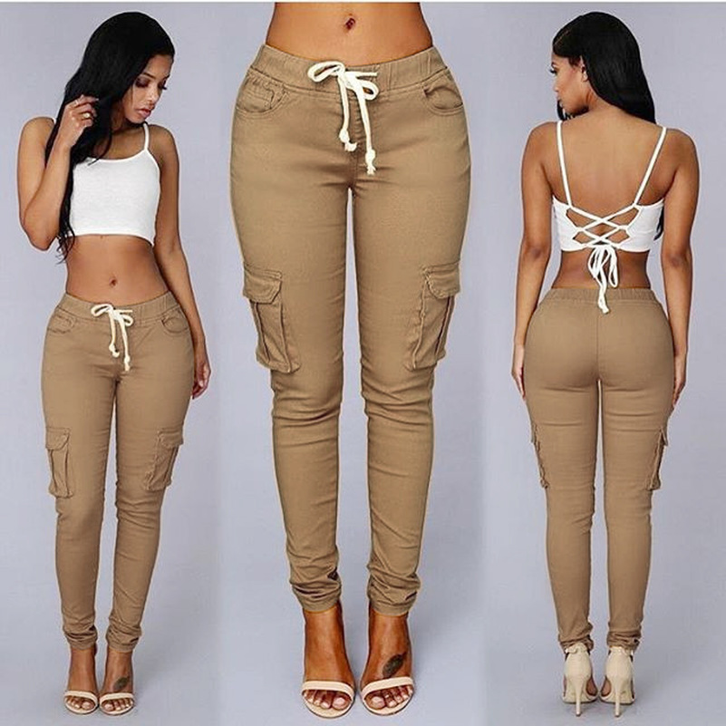 High Quality Sales Good Elastic Nice Material Packets Pencil 2019 New Design Casual Soft Suitable Skinny Women Ladies Pants