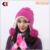 Invierno Caliente Grueso de Punto de Ganchillo Pom Pom Beanie Invierno Esquí Sombrero con Forro Polar Resistente Al Viento