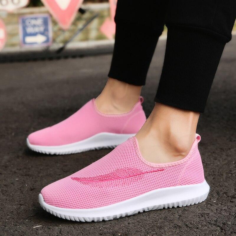 Confortable Jeunes Doux Plat Chaude 2018 Femmes blanc Net Casual rose Vente Respirant Mode Gris Tricoté Slip rouge Chaussures Sneakers on Unisexe Sw7040Pqn
