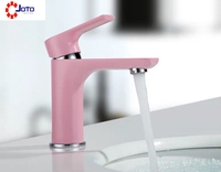 Low price And Good Quality Pink Hot And Cold Personality Basin Faucet