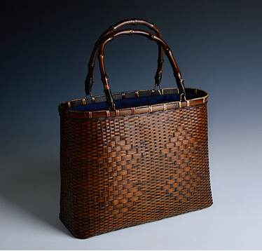 Vintage Woven Pattern Bamboo Handbags Traditional Handmade Rattan Material Process Retro Female Bags Tea Set Storage Tote In Totes From Luggage