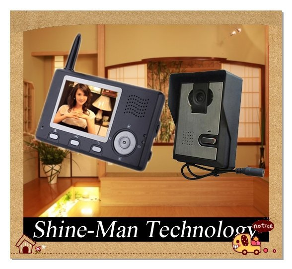 color video door phone Unlock/Take photos/Monitor outside/16 chord music Free shipping