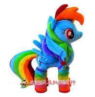 40cm Rainbow Dash Plush Toy Cartoon Pets Plush Rainbow Horse Unicorn Toys Stuffed Animal Doll