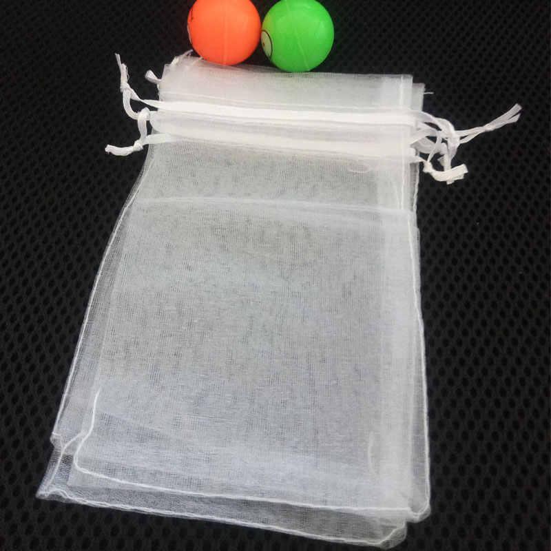 1000 pcs 9x12 cm branco presente de organza sacos de jóias sacos de embalagem saco do presente da festa de aniversário presentes de natal sacos de organza bolsa diy