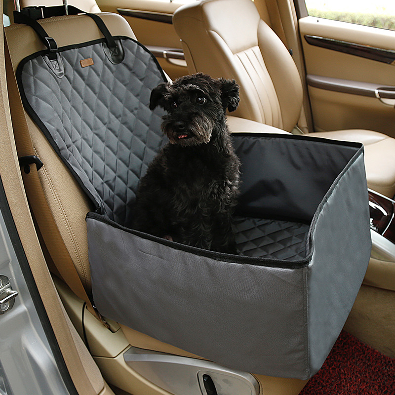 Seat Cushion Cover Waterproof Washable Deluxe Pet Carrier Car Travel Bag for Dog, Cat