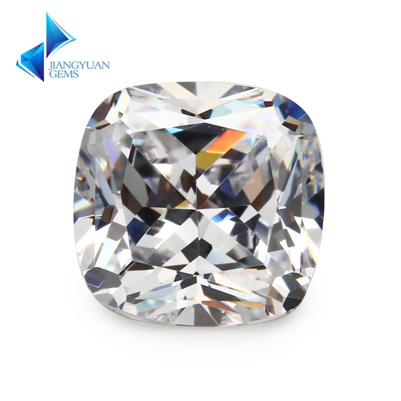 5x5~12x12mm Cushion Cut Shape Princess Cut AAAAA White CZ Stone Synthetic Gems Cubic Zirconia For Jewelry