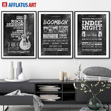 Guitar Radio Quote Wall Art Canvas Painting Nordic Posters And Prints Retro Poster Black White Wall Pictures Kids Room Bar Decor black white cartoon planet quote wall art print canvas painting nordic canvas poster and prints wall pictures kids room decor