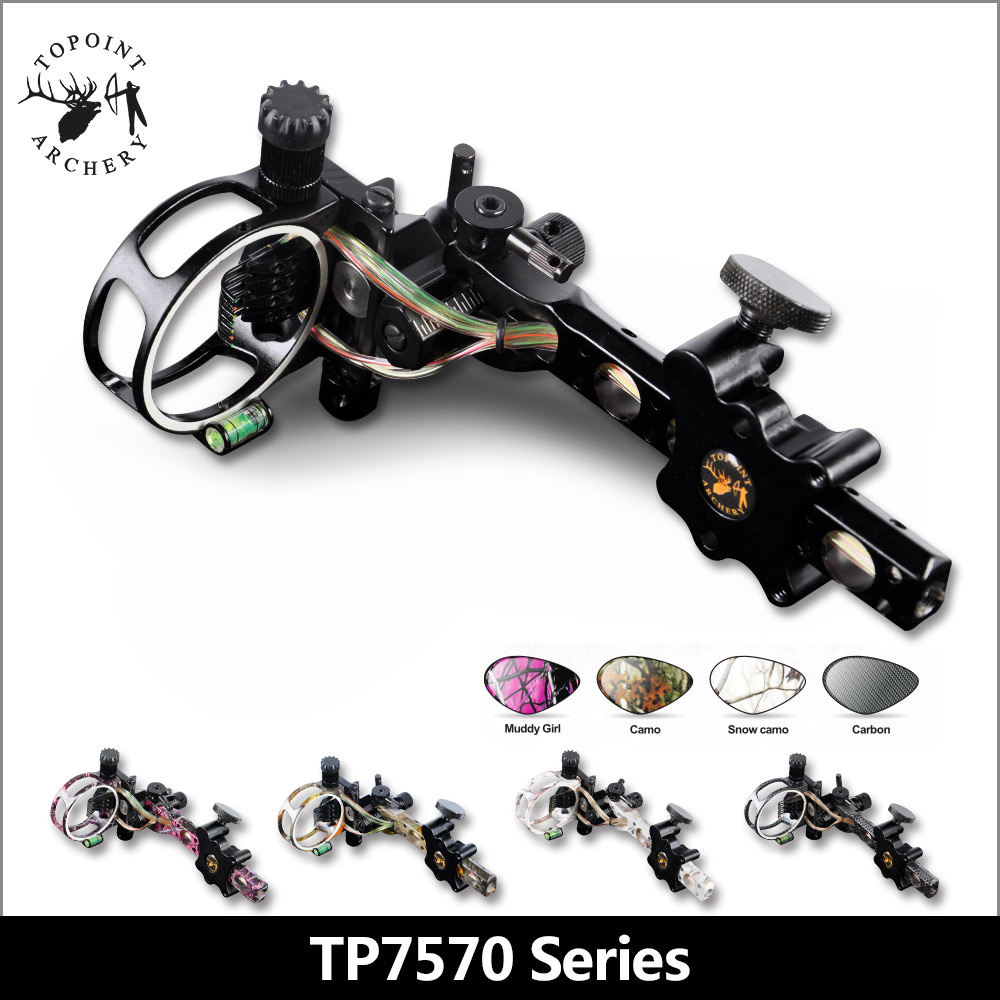 цена на Topoint Archery,7 Pin Bow sights,TP7570,Micro adjust,detachable bracket,5 colors can be selected