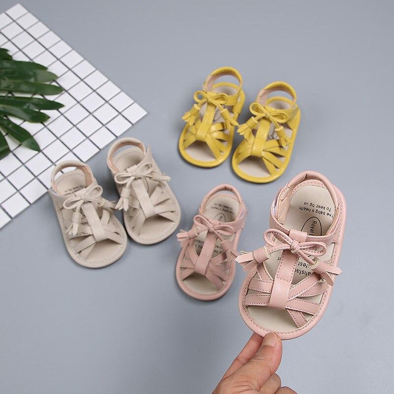2019 Sommer Baby Mädchen Sandalen Aus Echtem Leder Magie Paste Baby Sommer Schuhe Fliege Prinzessin Sandalen Infant Kleinkind Schuhe