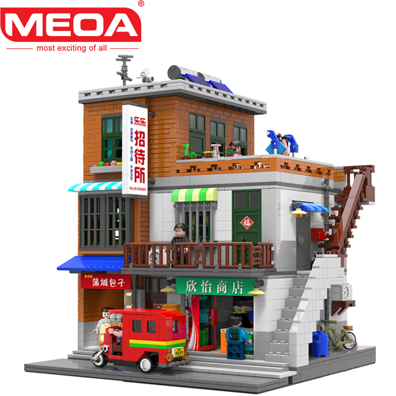 MEOA 2706Pcs Creative MOC House Model Lepin Technic Constructor Building Blocks With Duplo Figures Bricks Toys For Children