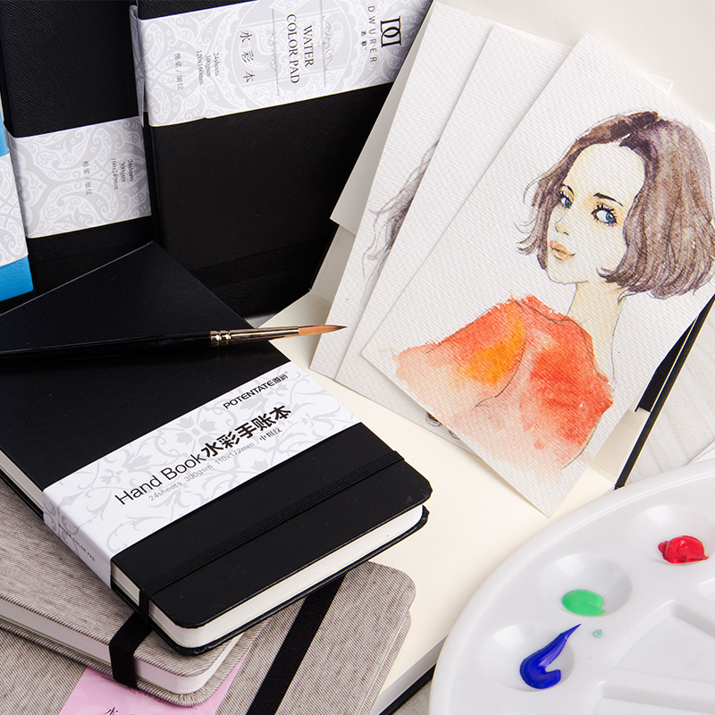 Art Professional Color Pencil Book Watercolor Paint Paper Coloring Book For Art Designer Student Drawing Sketch Book notepad kicute 1pc art thick blank paper sketchbook drawing book for drawing painting sketch scrawl student stationery pattern random