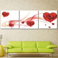 Oil Painting Frameless Canvas Art Abstract Print Symbol Of Love Roses Home Decoration Modular Picture For