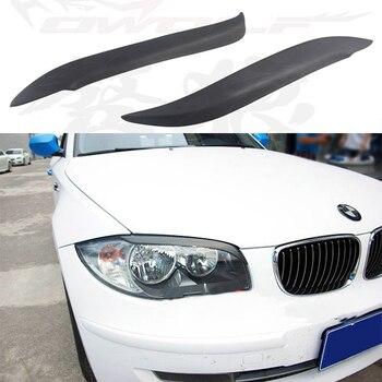 E87 E82 FRP Car Front Headlight Eyelid Cover Trim Sticker for BMW E82 E87 Eyebrows 2004-2011 BMW 1 Series (E87)