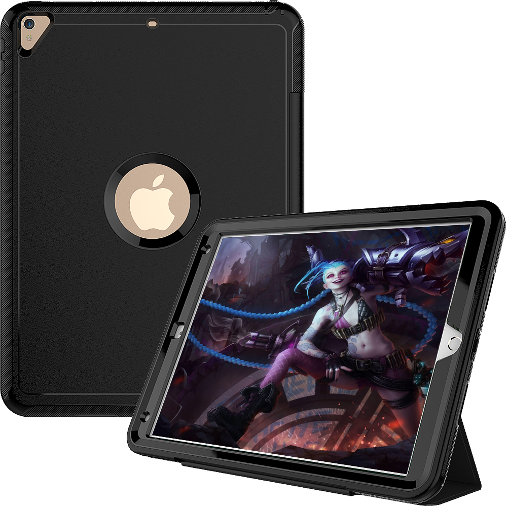 Case For Ipad Pro 10.5 Inch 2017 ,Kids Case Armor Heavy Duty Silicone Hard Shell Smart Auto Sleep Wake Cover A1701 A1709