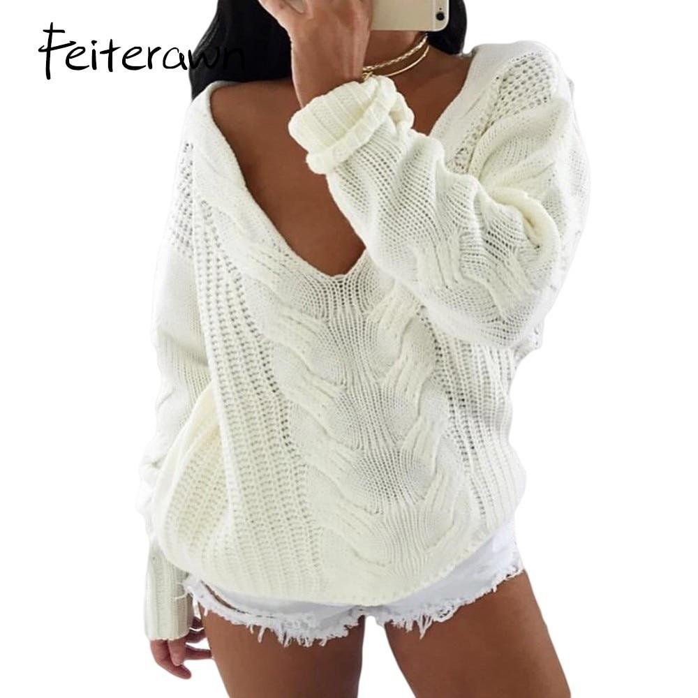 Online Shop Feiterawn Autumn Fashion Women Sweaters Knitwear Off ...