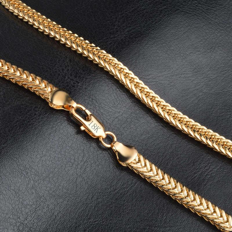 18K Gold สีโซ่ Choker สร้อยคอ Lobster Clap สไตล์คลาสสิกกระเป๋าสตางค์กระเป๋าสตางค์เครื่องประดับสำหรับตกแต่ง HOT SALE