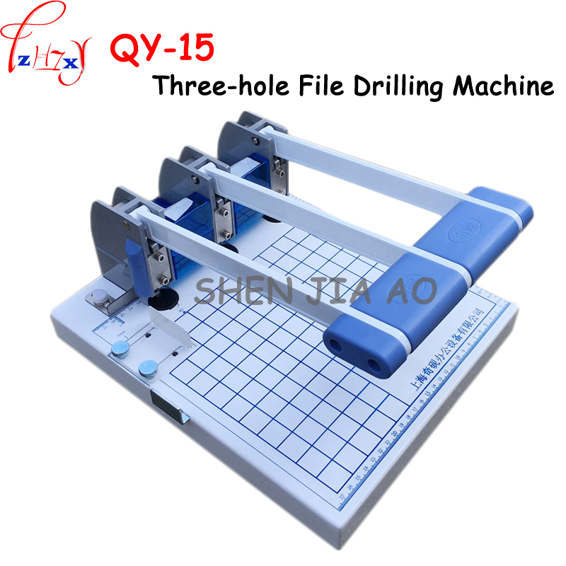A4 size three hole drilling machine manual three holes strong punching machine all-metal drilling machine 1pc a4 size manual flat paper press machine for photo books invoices checks booklets nipping machine