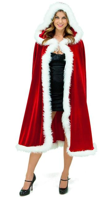 2017 Christmas Costume Women Girls Red Cape Santa Claus Dress Decoration Christmas Cosplay Cloak With Hoodie  sc 1 st  AliExpress.com & 2017 Christmas Costume Women Girls Red Cape Santa Claus Dress ...