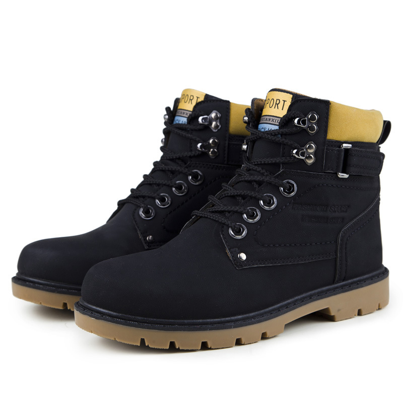 Men Martin boots Ankle 2017 Autumn Winter Casual Shoes Military Boots Tooling High Helper