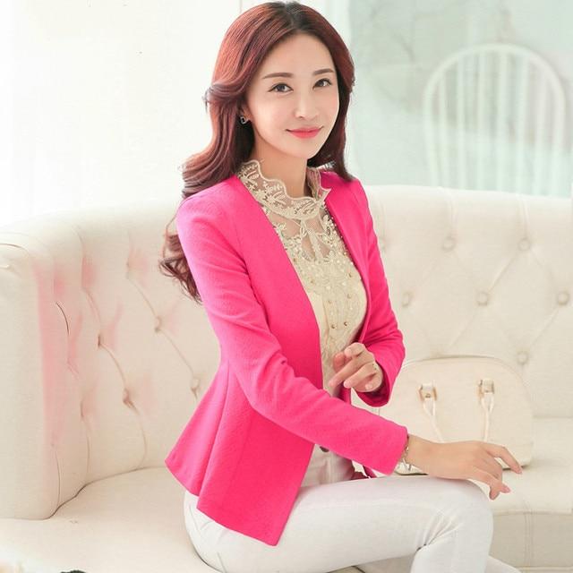 9952d878d82 2016 New Spring autumn Design Floral Suit Slim Lotus Female Frock Casual  Coat Women Work