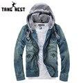 2017 Novo de venda Quente dos homens Moda Casual Jaqueta Jeans de Alta Qality Confortável Masculino Cowboy Jacket Plus Size M-XXXL MWJ089