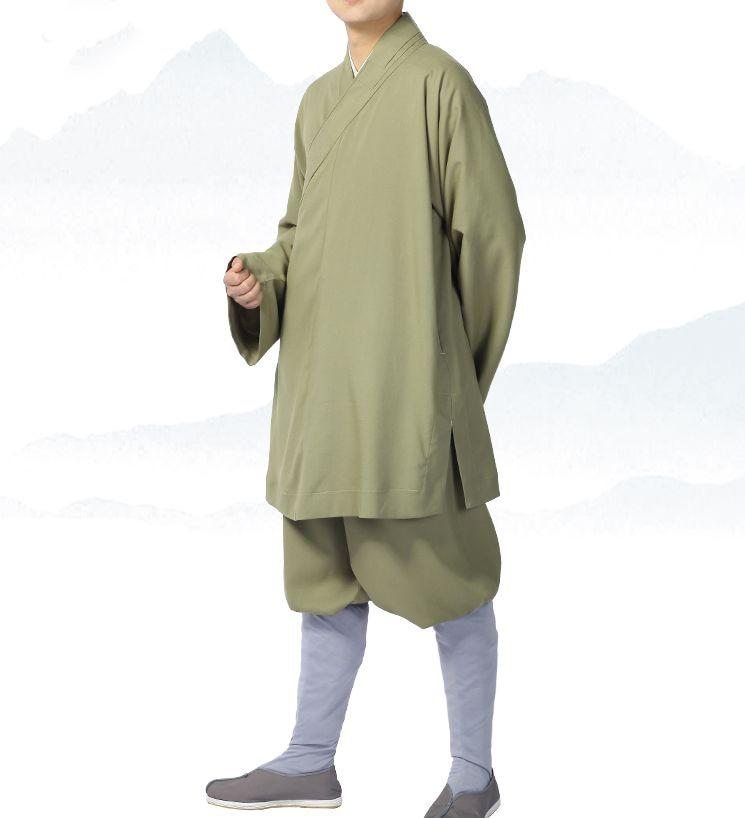 HOT SALE] High Quality Beige Cotton Shaolin Monk Training Suit