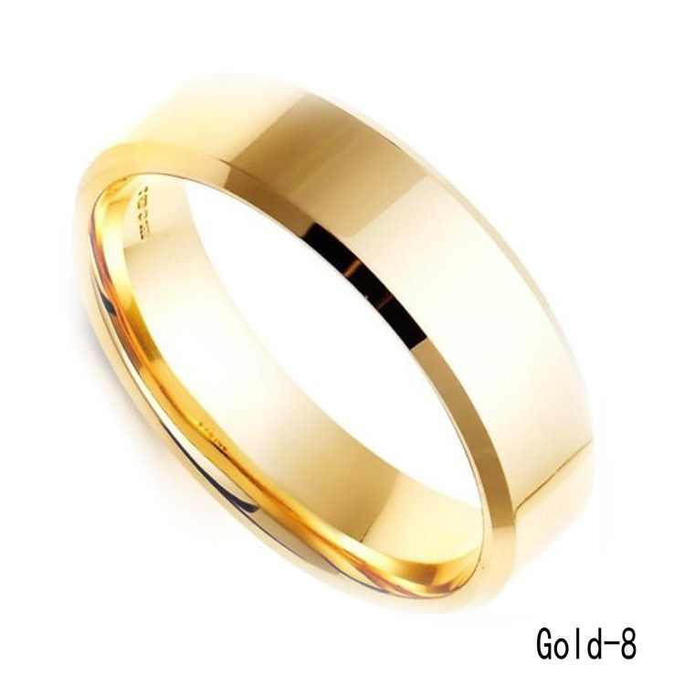 Charming High Quality Black Gold Silver Stainless Steel Male Ring ...