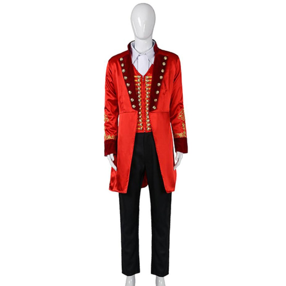 Movie The Greatest Showman Costume P.T. Barnum Cosplay Costume Adult Men Outfit Version Two Halloween Costumes Custom Made