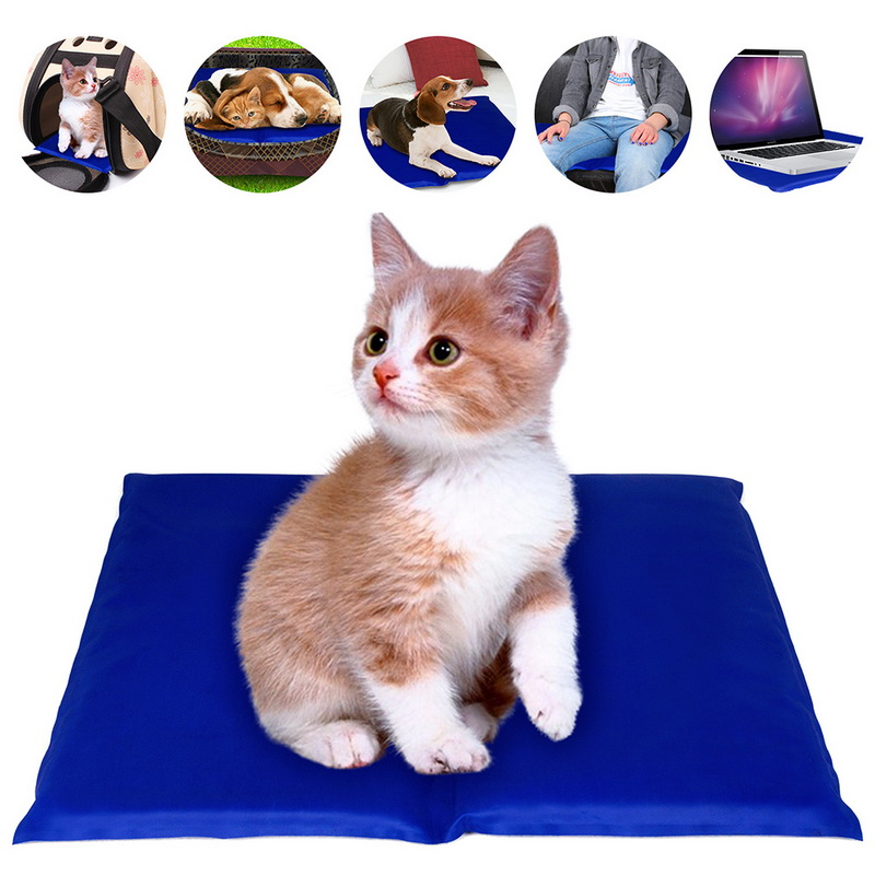 Hoomall 1PC Pet Dogs Mat Summer Cool Ice Pad Portable Muti-functional Cats Sleep Cooling Travel Blanket Pet Cushion Pet Supplies