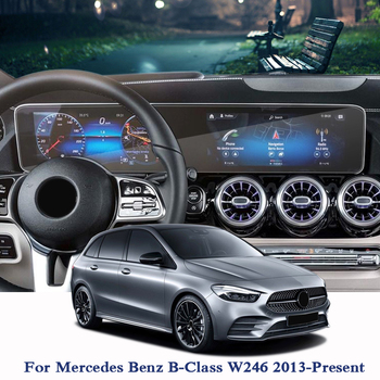 Car Styling Car Dashboard Paint Protective PET Film For Mercedes Benz B-Class W246 2013-Present GPS Screen Film Car Accessories image