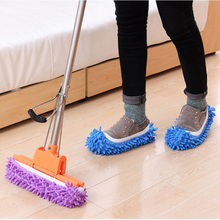 Floor Dust Microfiber Cleaning Slipper Lazy Shoes Cover Mop Window Cleaner Home Cloth Clean Mophead Overshoes